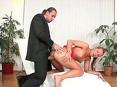Hardcore action with a nasty girlfriend named Lexxis Brown and Tarzan