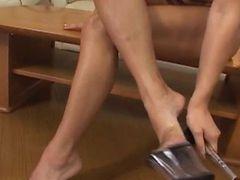 Erena Fujimori Pretty Asian Milf Exposes Twat For Masturbation Close Up