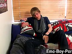 Hot gay scene Brent Daley is a super-cute towheaded emo stud