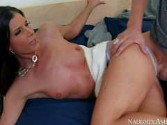 Beautiful skinny brunette India Summer, his