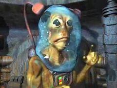 creepy underwater alien fingers his new human lover in the watersphere