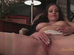 Sophia Delane in sexy stockings and lingerie
