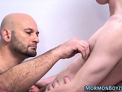 Mormon cums in threesome