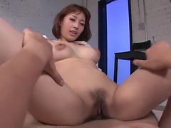 Horny Japanese slut is a hot cock rider