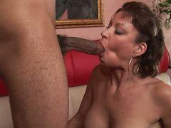 Vanessa Videl surprised with a big black cock