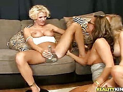 Teagan makes sure she teaches Bree and Kristen the proper way to eat pussy.
