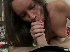 Delicate babe Geneva gets her sweet pussy eaten and ass pricked