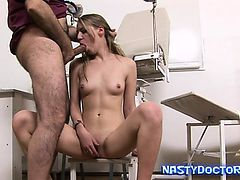 Hairy Gynecologist Nails Cute Teen