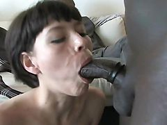 Pia's first black cock