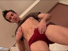 Hard young body with a sexy shaved asshole