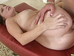 Kilie gets her pussy rammed as her luscious tits bounce.