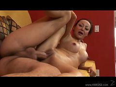 Asian Cougar Ange Venus Deepthroats and Gets Her Ass Fucked Hard