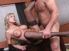 Darcy gets her pussy pounded on her office desk.